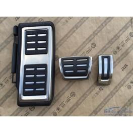 VW GOLF 7 AUDI A3 8V SEAT LEON 5F COPRI PEDALI PEDALIERA ALLUMINIO PER DSG 8V1064200A 7-15 I7
